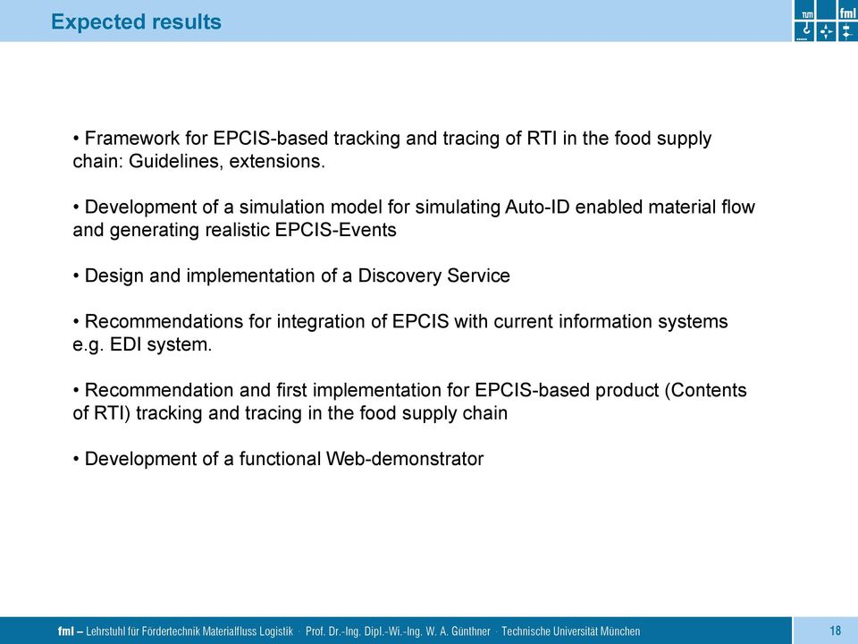 Recommendations for integration of EPCIS with current information systems e.g. EDI system.