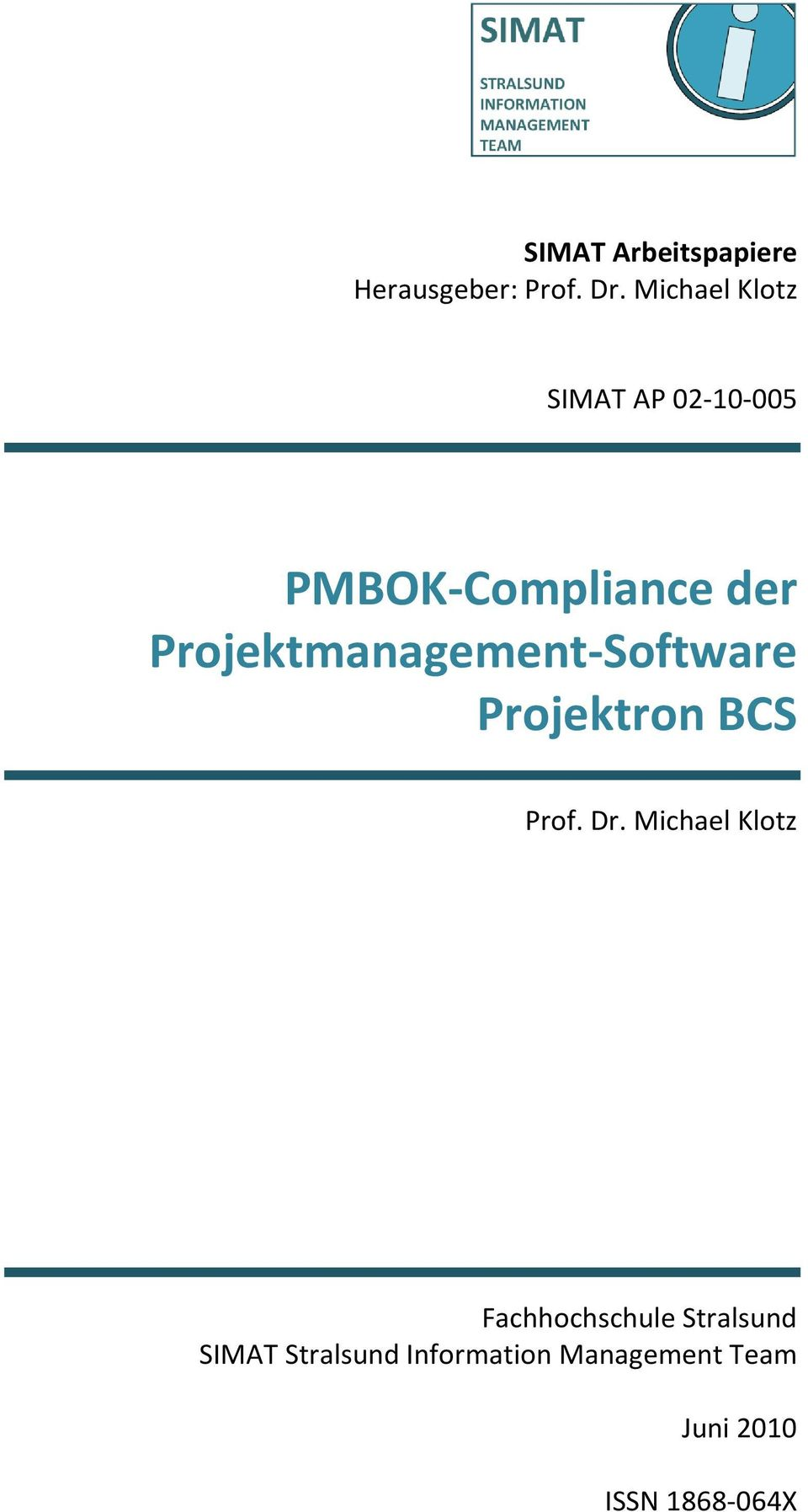 Projektmanagement-Software Projektron BCS Prof. Dr.