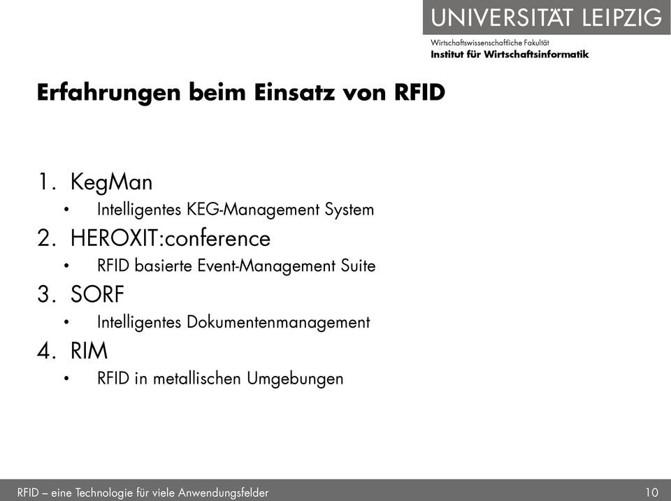 HEROXIT:conference RFID basierte Event-Management Suite 3.