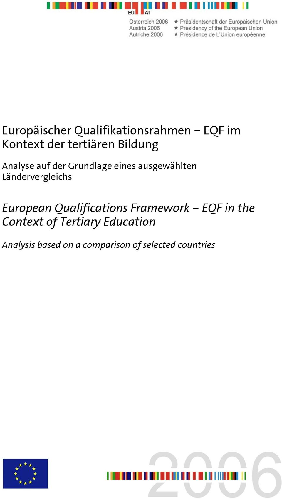 Ländervergleichs European Qualifications Framework EQF in the