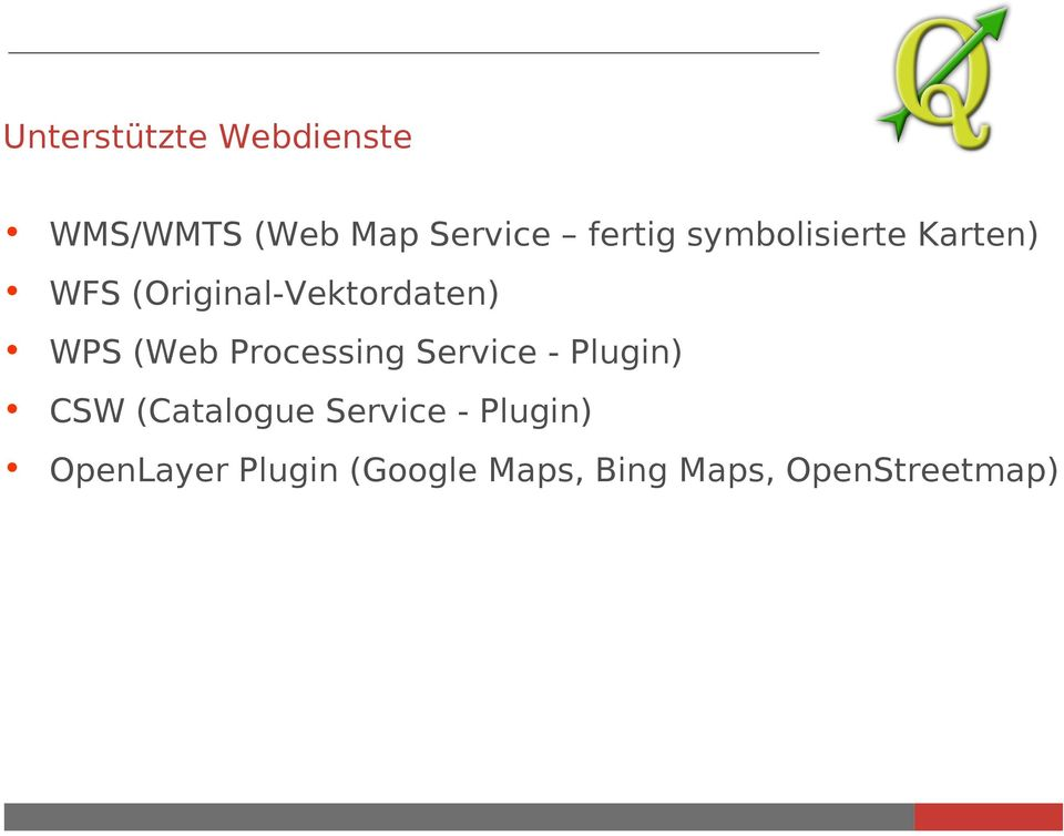 Processing Service - Plugin) CSW (Catalogue Service -