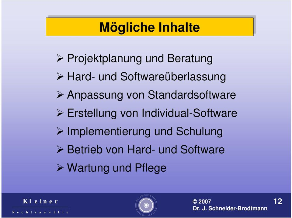 Standardsoftware Erstellung von Individual-Software
