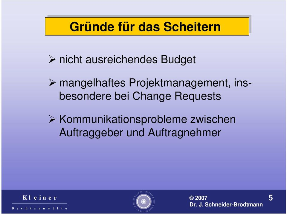 Projektmanagement, insbesondere bei Change Requests