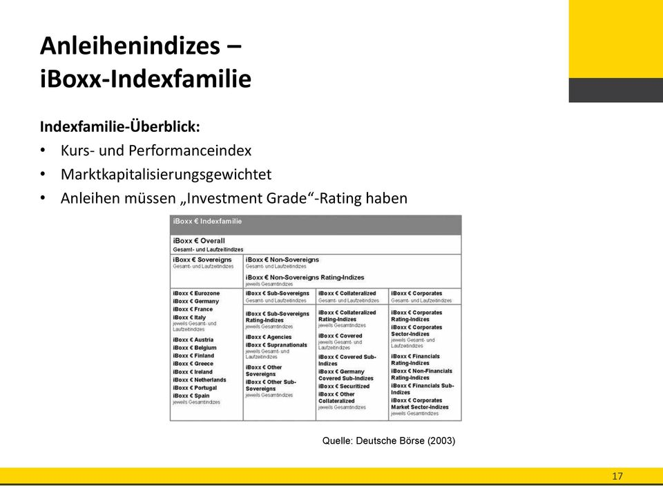 Performanceindex Marktkapitalisierungsgewichtet