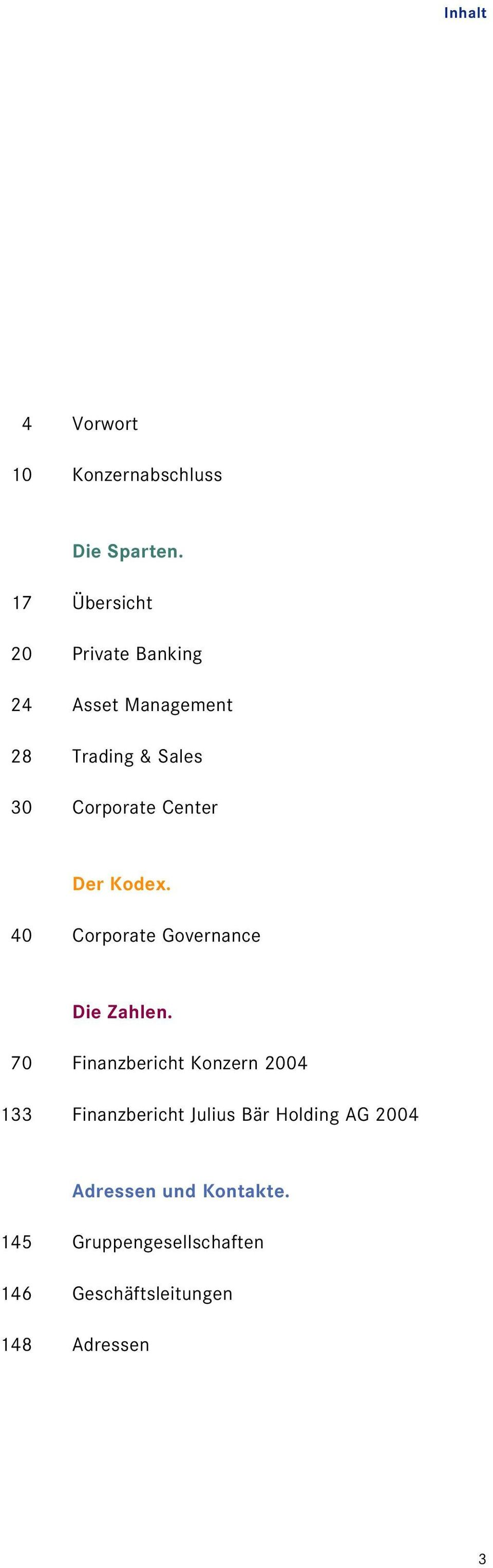 Center Der Kodex. 40 Corporate Governance Die Zahlen.