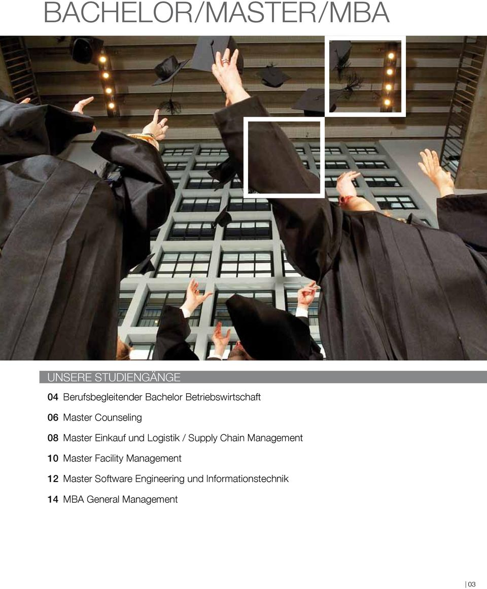 / Supply Chain Management 10 Master Facility Management 12 Master