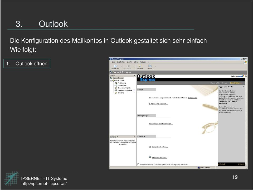 Mailkontos in Outlook