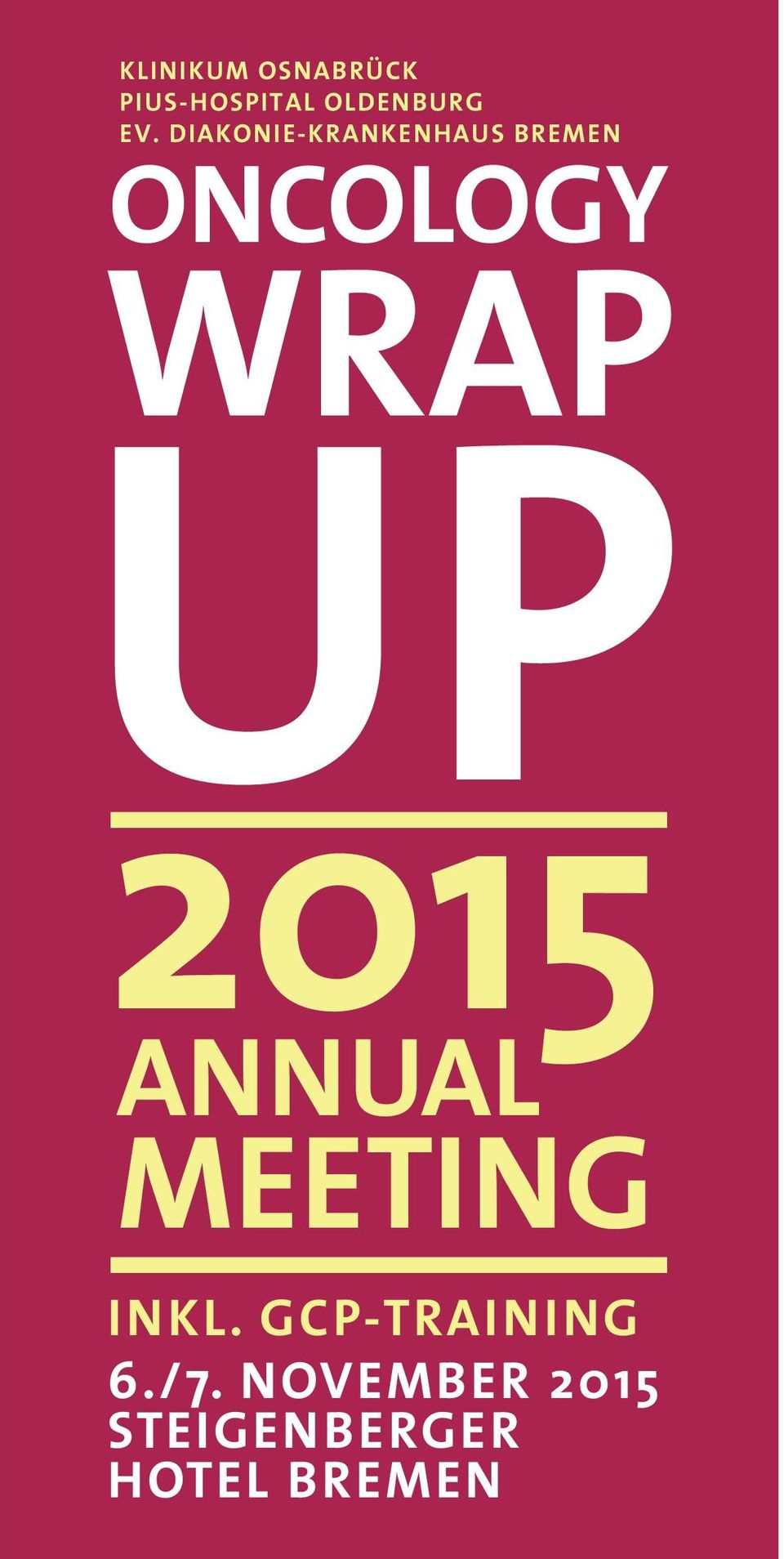 WRAP UP 2015 ANNUAL MEETING INKL.