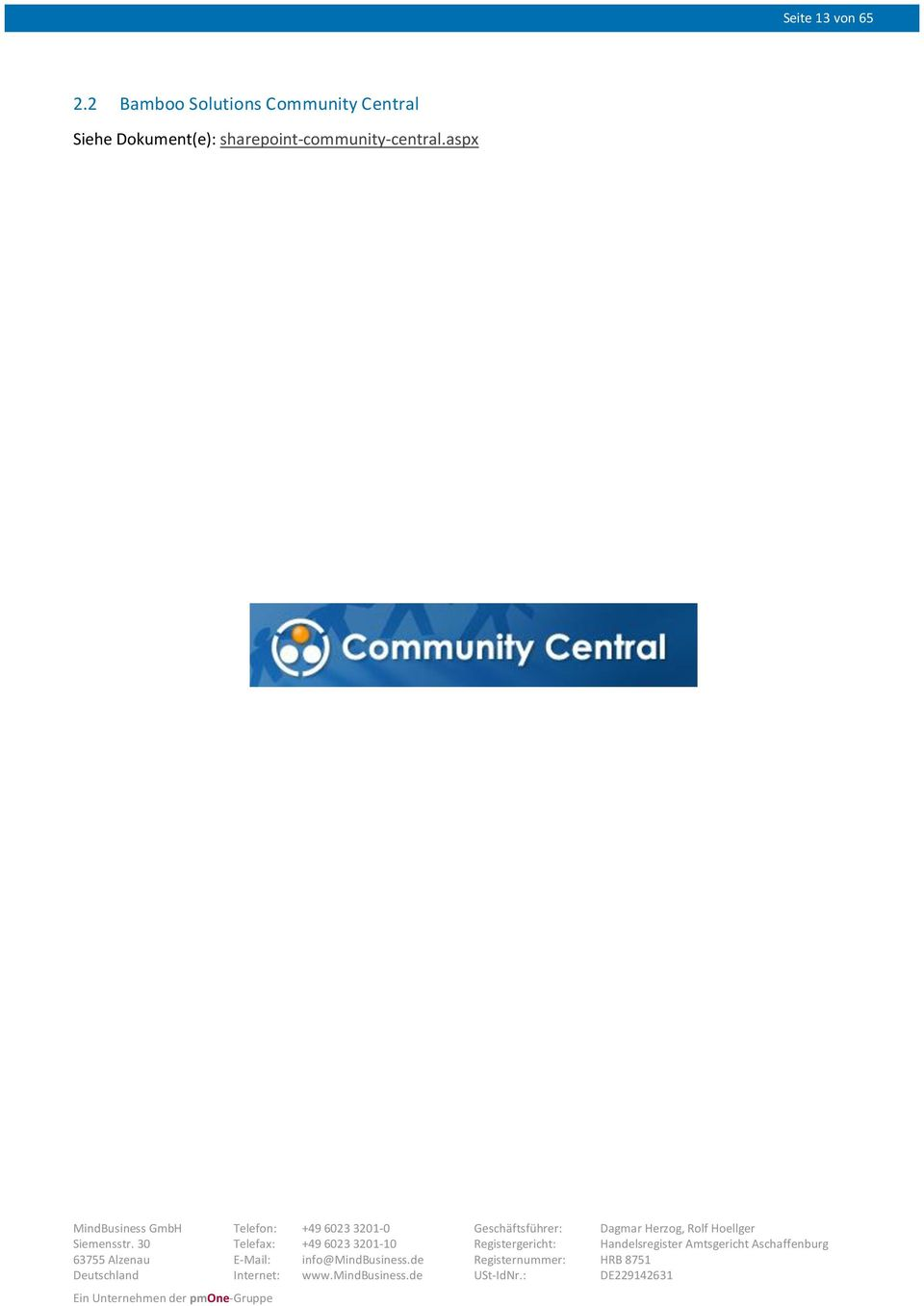Community Central Siehe