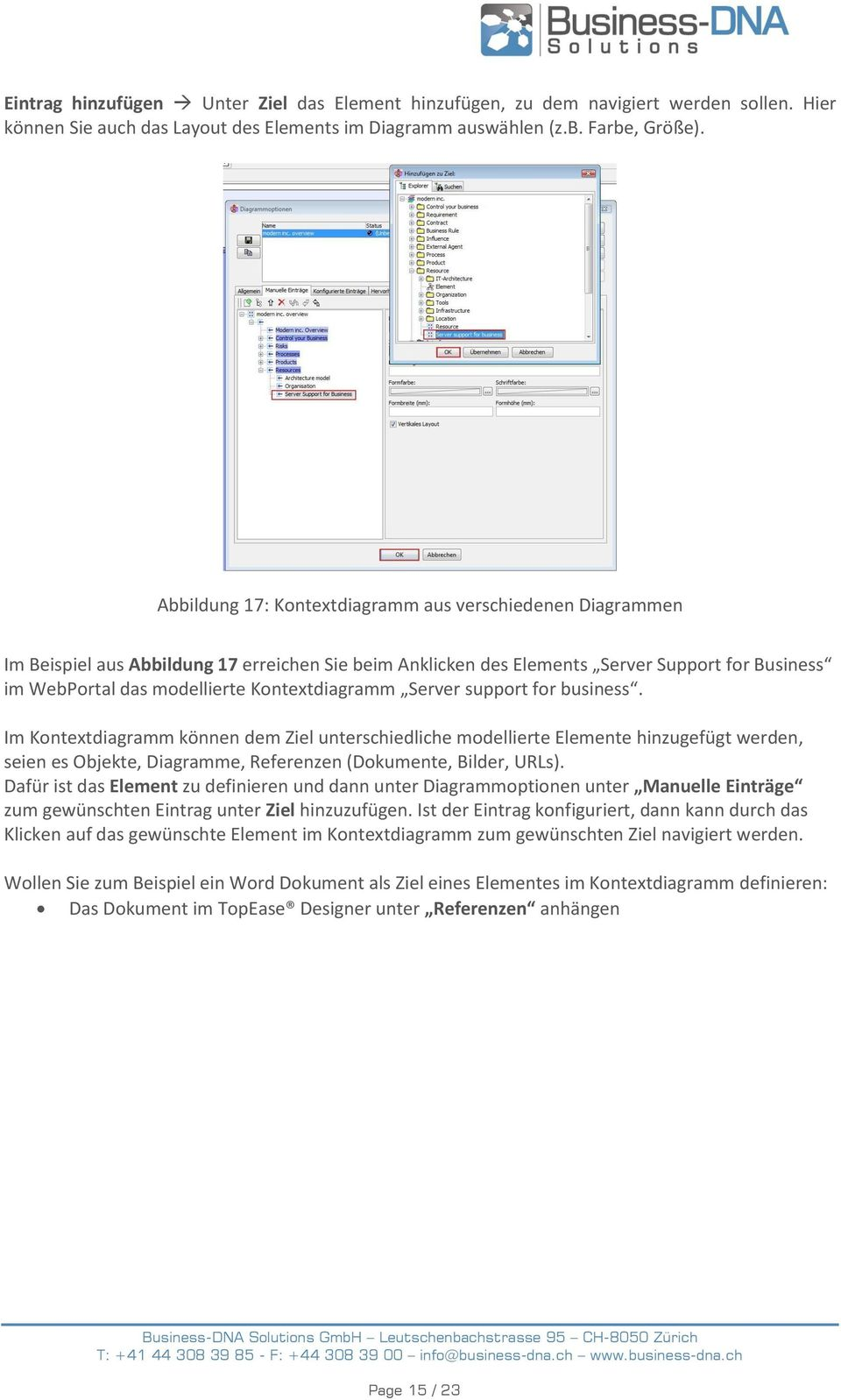 Kontextdiagramm Server support for business.