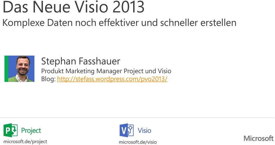 Marketing Manager Project und Visio Blog: