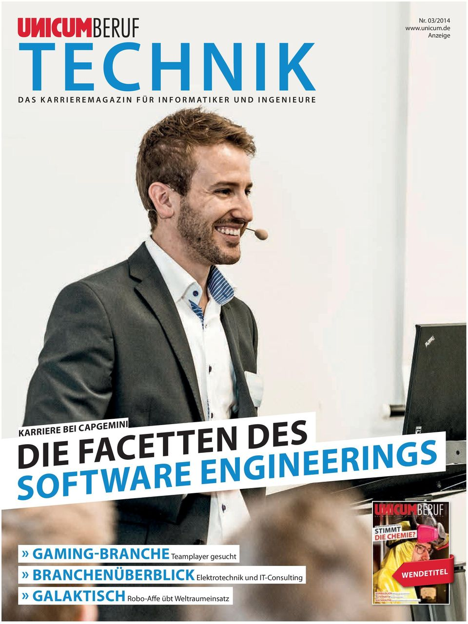 de Anzeige KARRIERE BEI CAPGEMINI DIE FACETTEN DES SOFTWARE ENGINEERINGS»