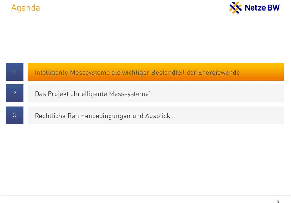 Das Projekt Intelligente Messsysteme 3