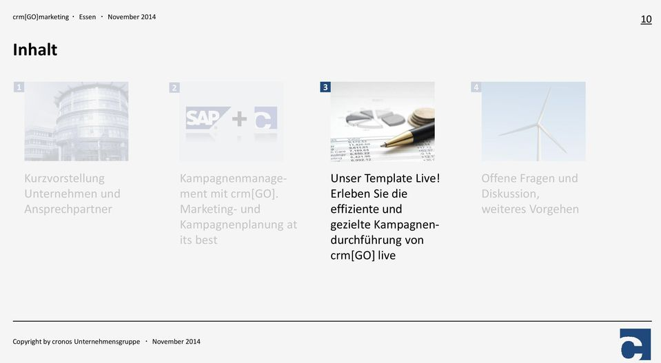 Marketing- und Kampagnenplanung at its best Unser Template Live!