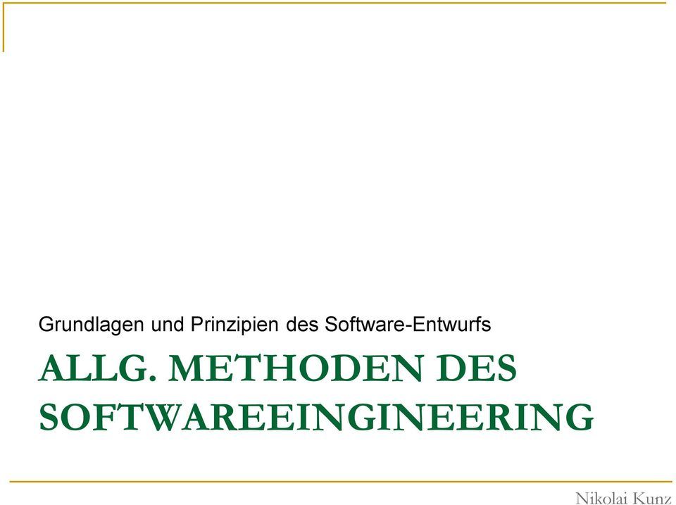 Software-Entwurfs