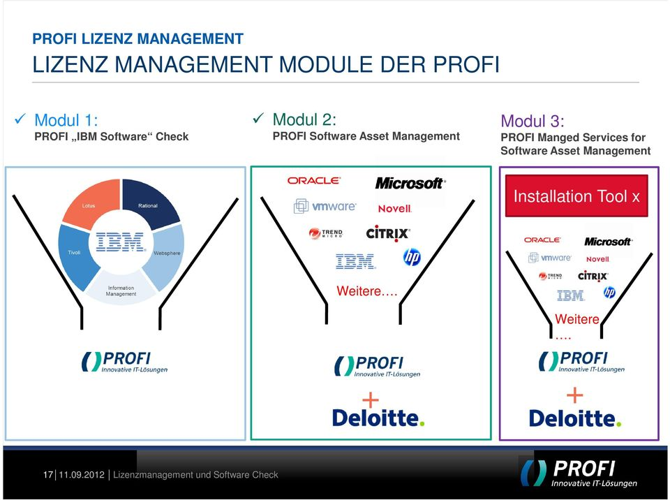 3: PROFI Manged Services for Software Asset Management Installation