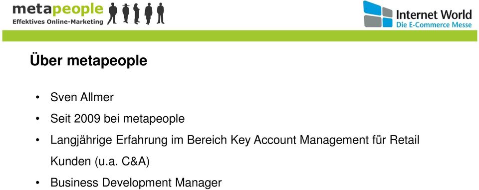 Bereich Key Account Management für Retail