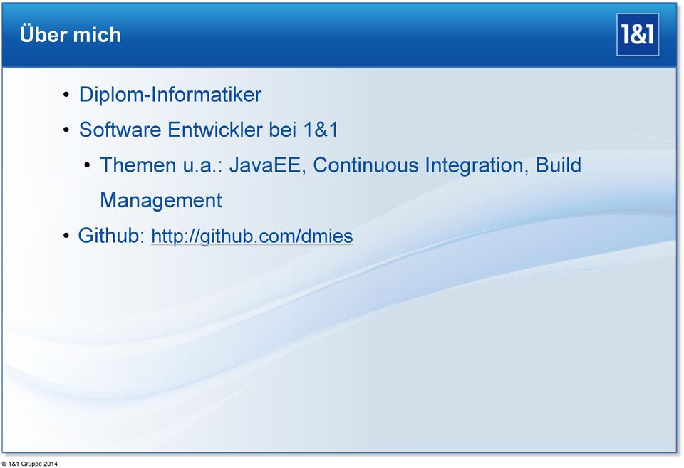 a.: JavaEE, Continuous Integration,