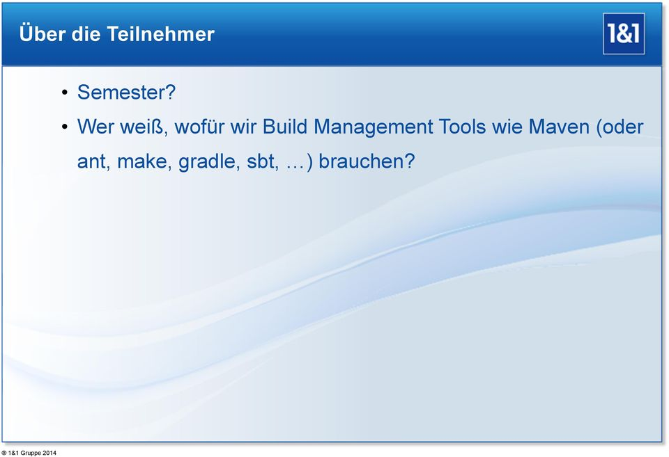 Management Tools wie Maven