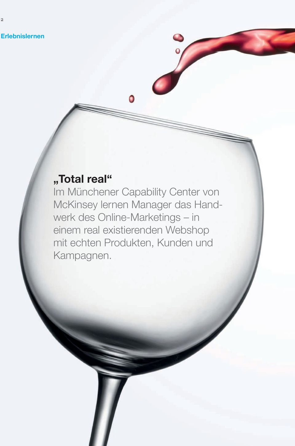 Handwerk des Online-Marketings in einem real