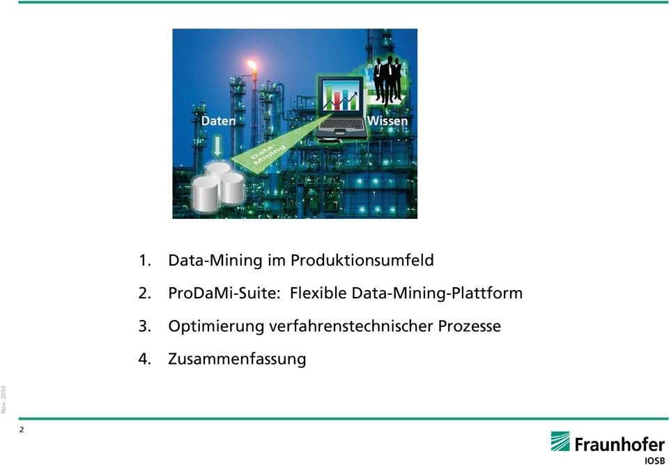 Data-Mining-Plattform 3.