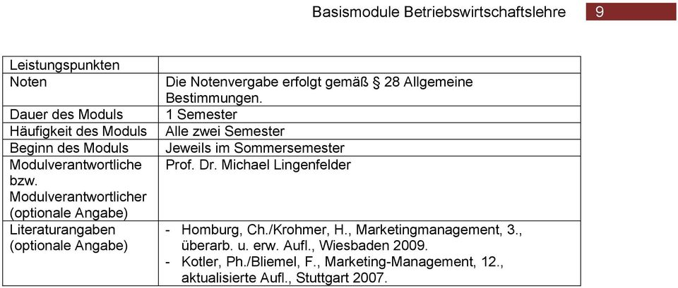 Michael Lingenfelder - Homburg, Ch./Krohmer, H., Marketingmanagement, 3., überarb. u. erw.