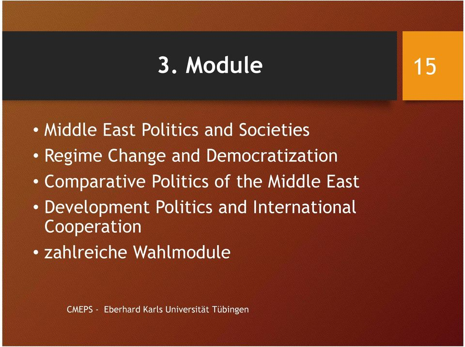 Middle East Development Politics and International