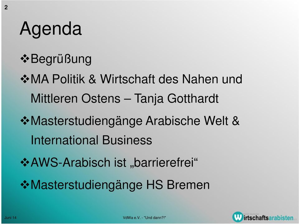 Masterstudiengänge Arabische Welt & International