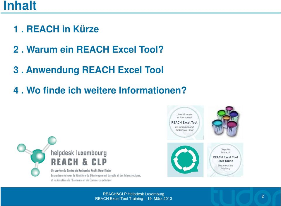 Anwendung REACH Excel Tool 4.