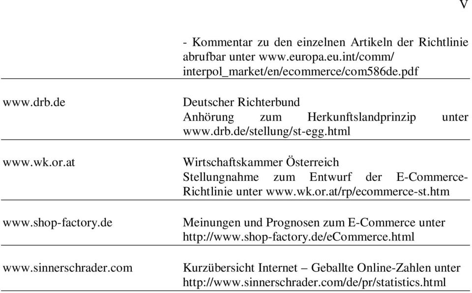 html Wirtschaftskammer Österreich Stellungnahme zum Entwurf der E-Commerce- Richtlinie unter www.wk.or.at/rp/ecommerce-st.
