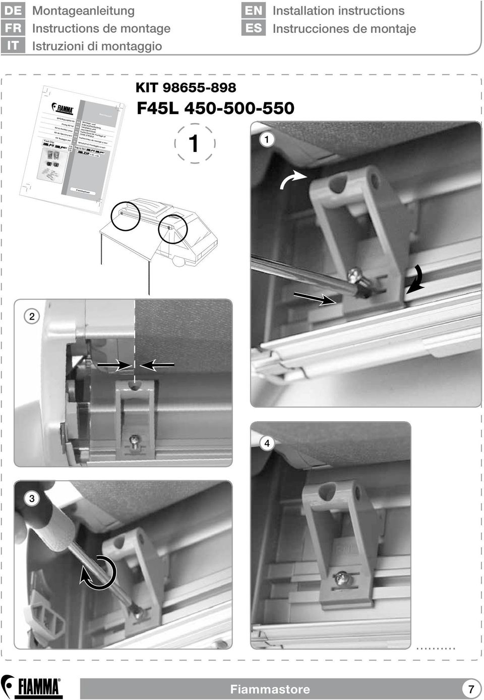 com Montage- und Befestigungskit für Gebrauchsanleitung Installation and Fixing Kit for use instructions Instructions