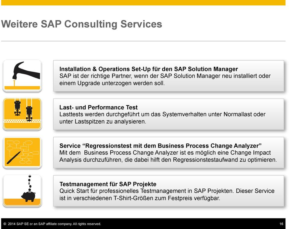 Service Regressionstest mit dem Business Process Change Analyzer Mit dem Business Process Change Analyzer ist es möglich eine Change Impact Analysis durchzuführen, die dabei hilft den