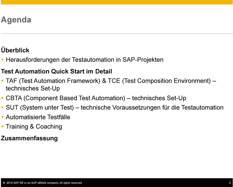 CBTA (Component Based Test Automation) technisches Set-Up!