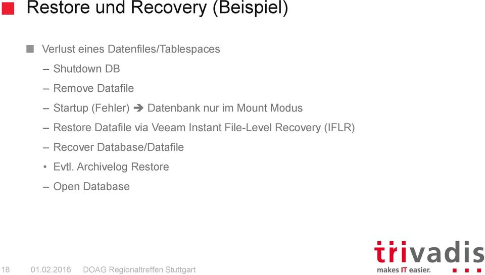 Modus Restore Datafile via Veeam Instant File-Level Recovery (IFLR)