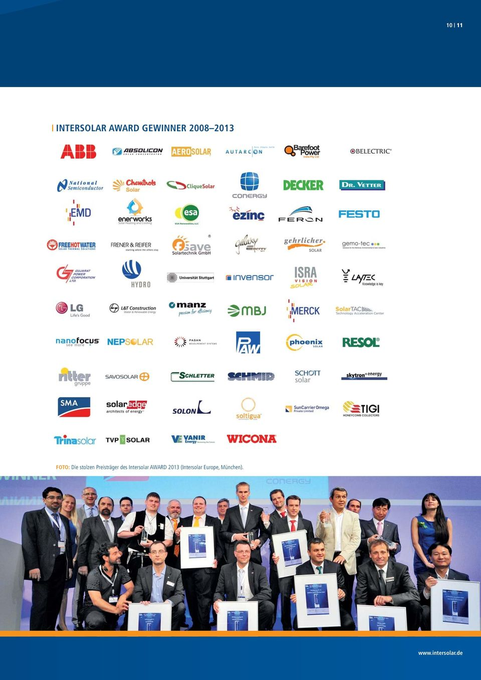 des Intersolar AWARD 2013