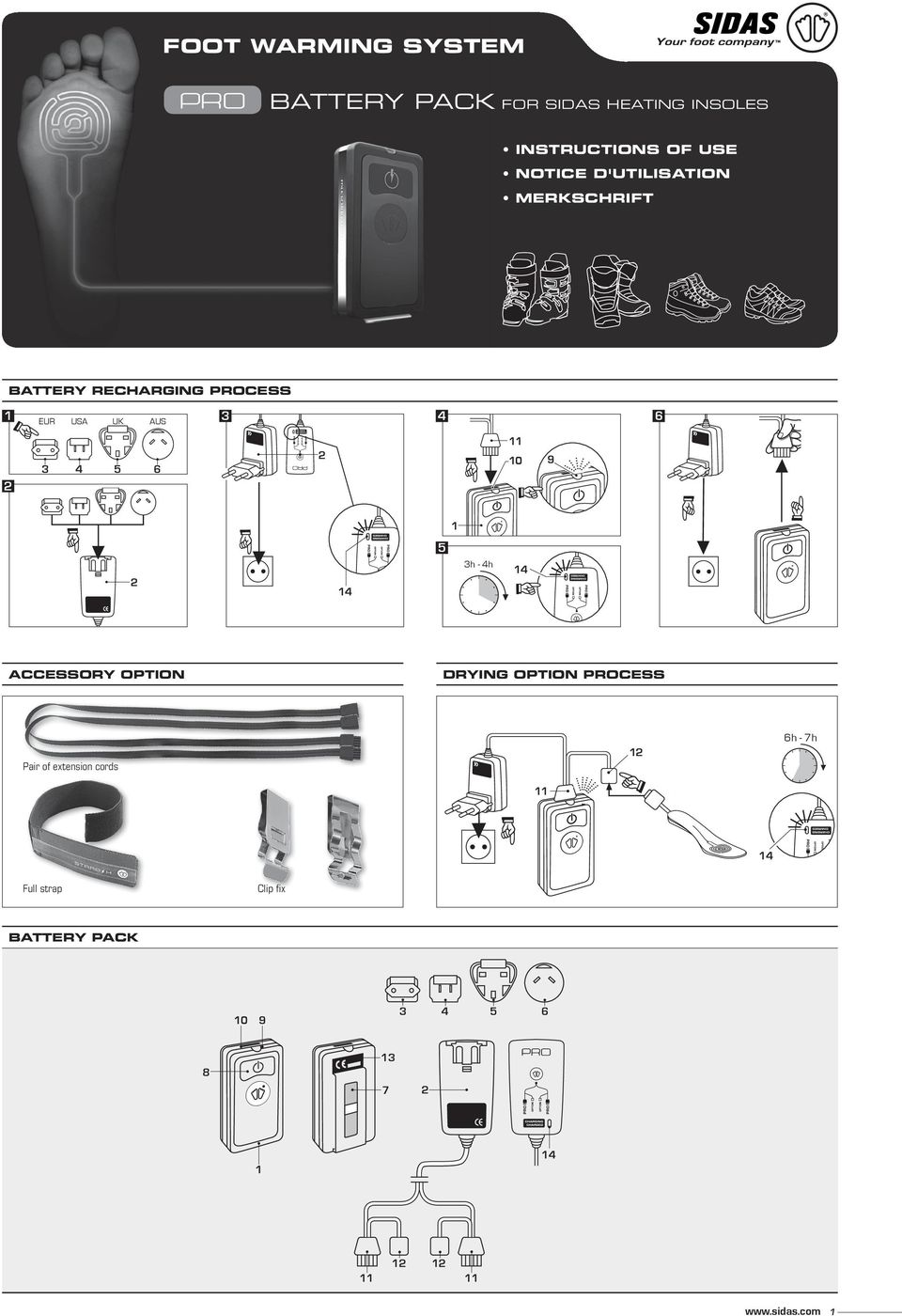AUS 3 4 6 3 4 6 0 9 3h - 4h accessory option drying option Process Pair of
