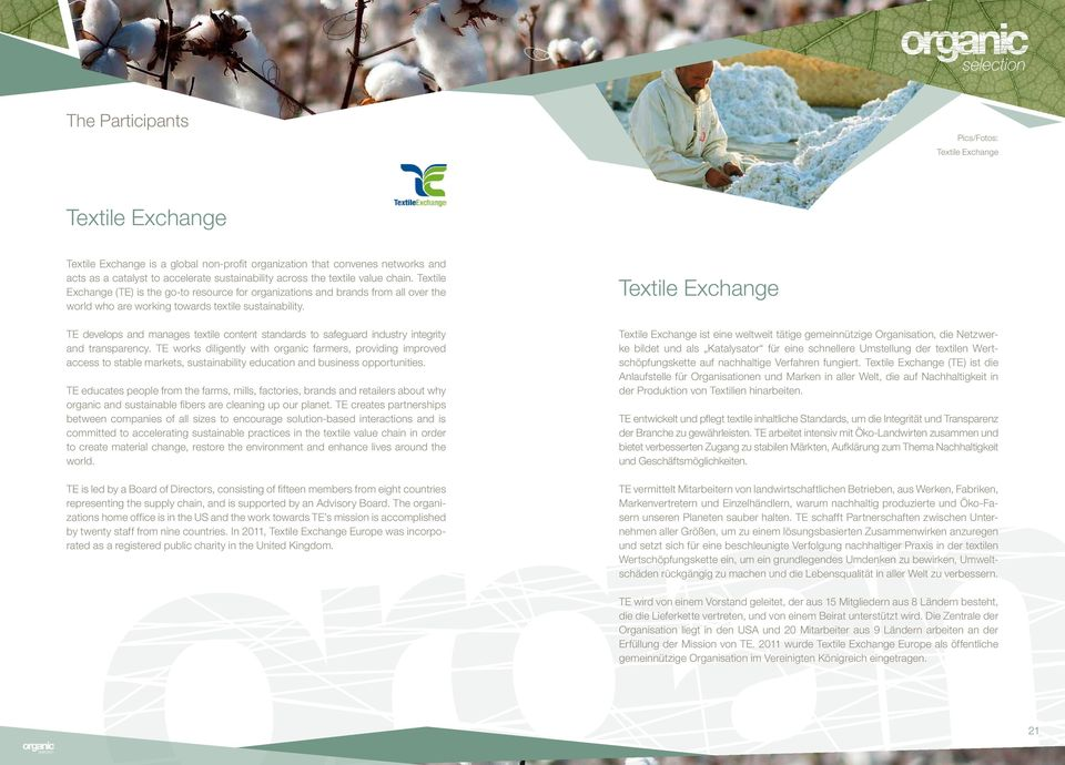 TE develops and manages textile content standards to safeguard industry integrity and transparency.