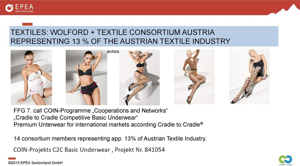 call COIN-Programme Cooperations and Networks Cradle to Cradle Competitive Basic Underwear