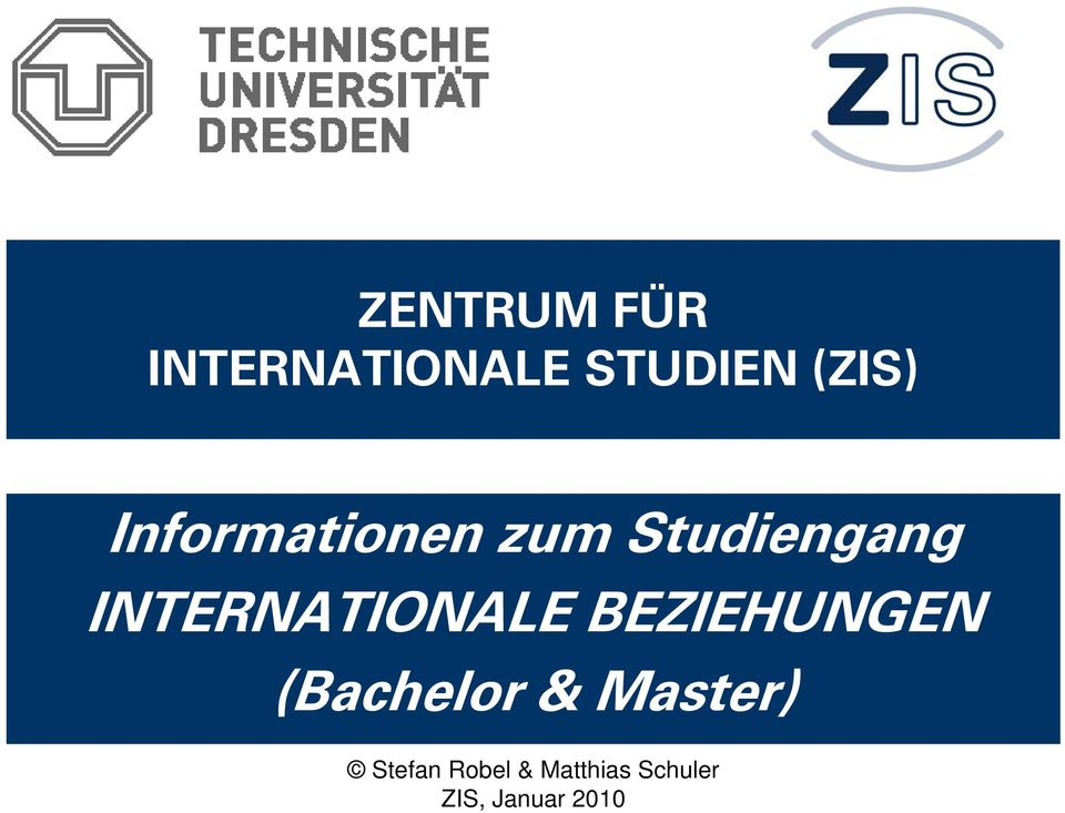 INTERNATIONALE BEZIEHUNGEN (Bachelor &