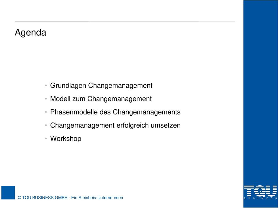 Phasenmodelle des Changemanagements