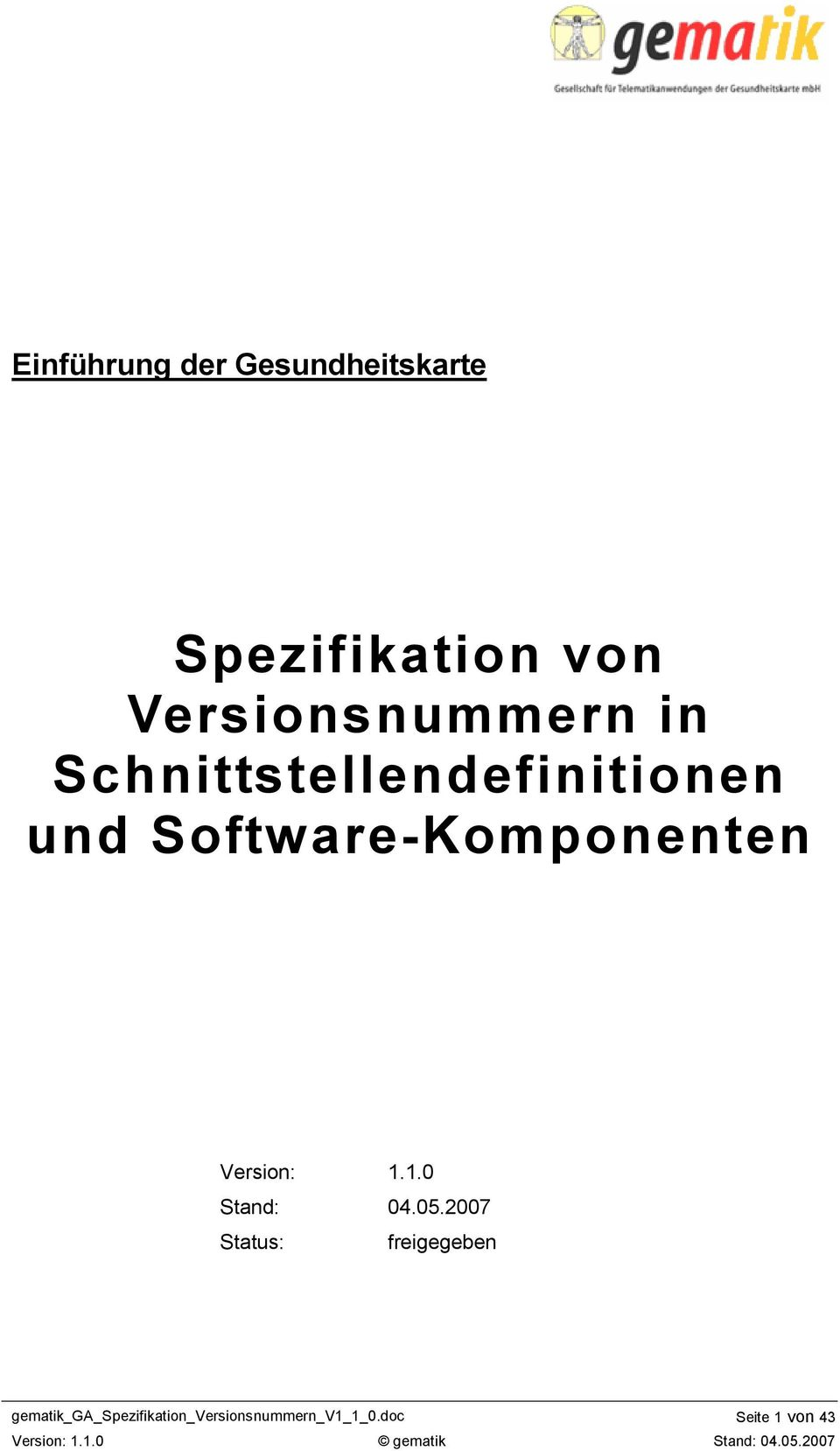 Software- Version: 1.1.0 Stand: 04.05.
