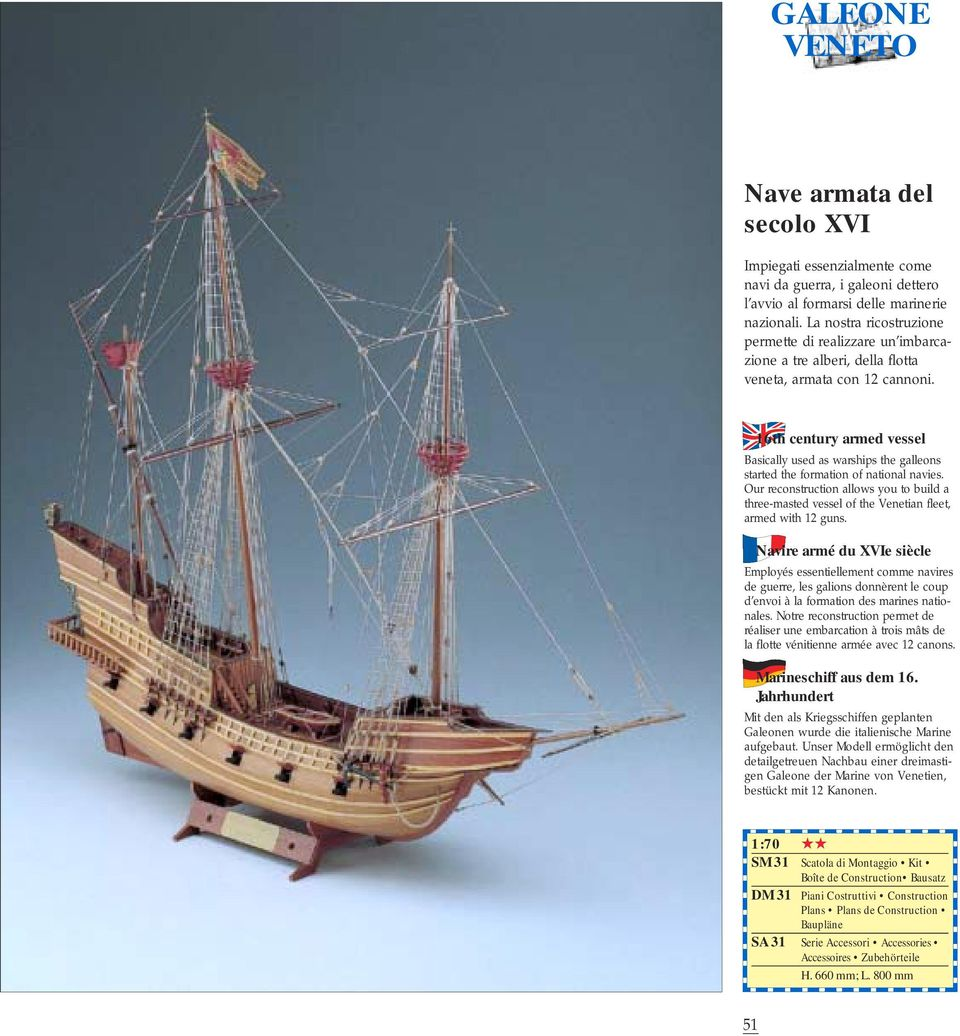 16th century armed vessel Basically used as warships the galleons started the formation of national navies.