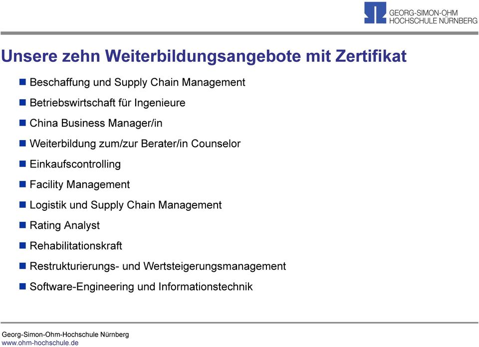 Counselor Einkaufscontrolling Facility Management Logistik und Supply Chain Management Rating
