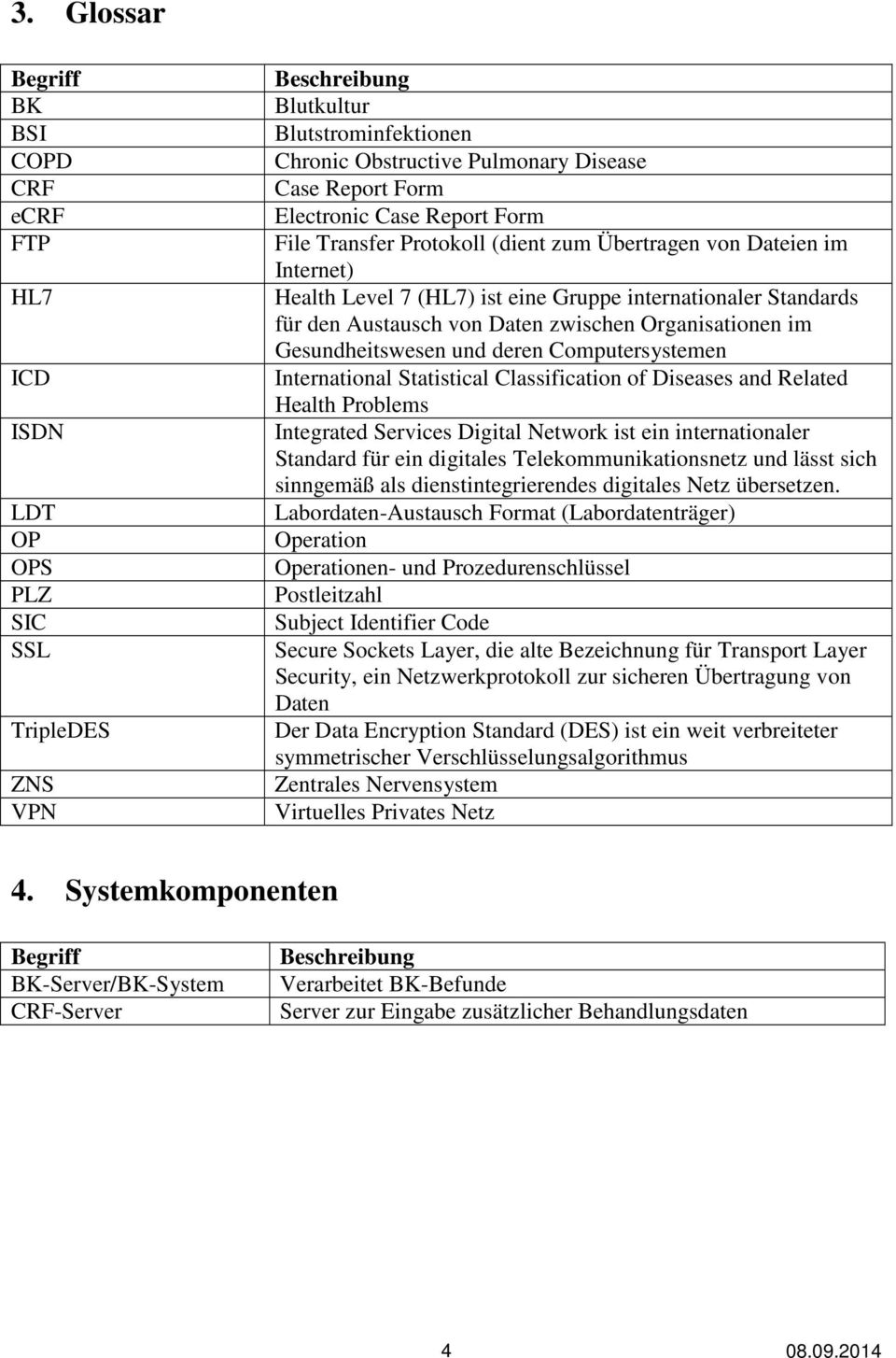 Organisationen im Gesundheitswesen und deren Computersystemen International Statistical Classification of Diseases and Related Health Problems Integrated Services Digital Network ist ein