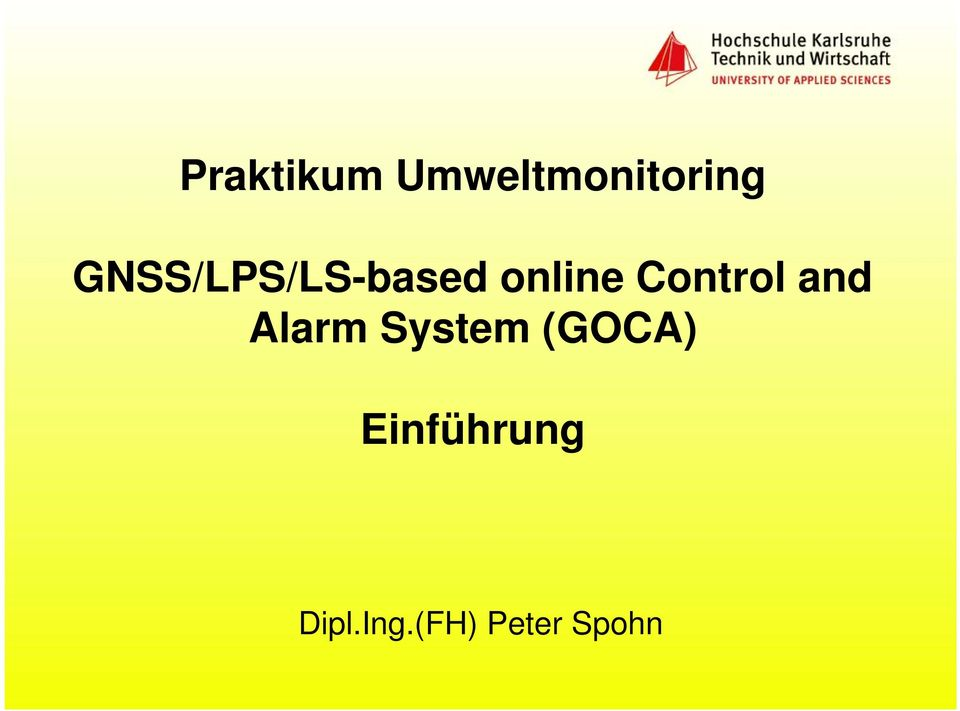 Control and Alarm System