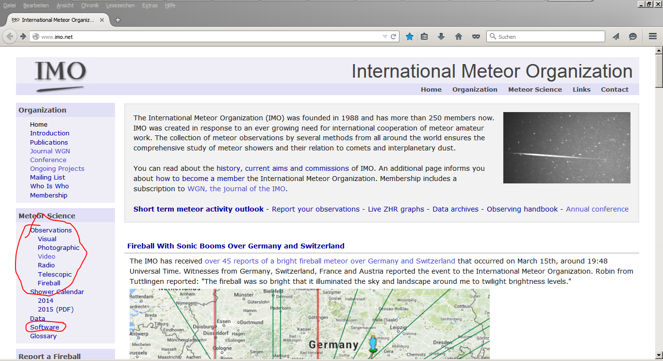 International Meteor Organisation xx Martin