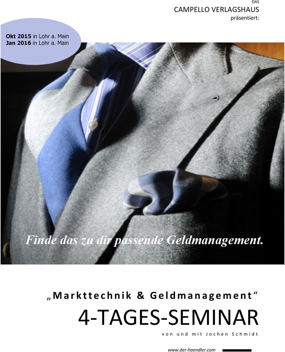 Main Workshop Finde das zu dir passende Geldmanagement.
