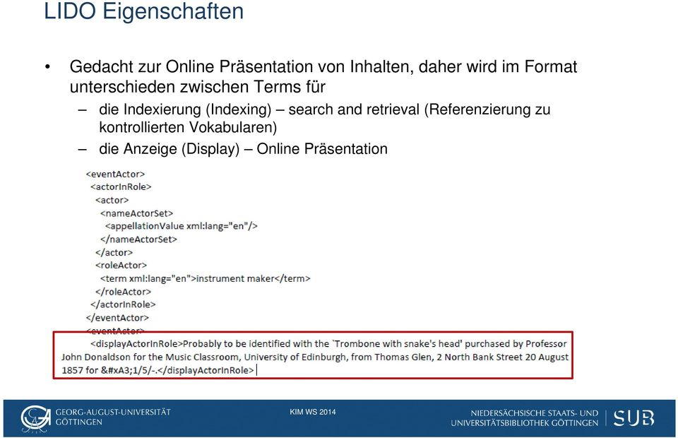 die Indexierung (Indexing) search and retrieval (Referenzierung
