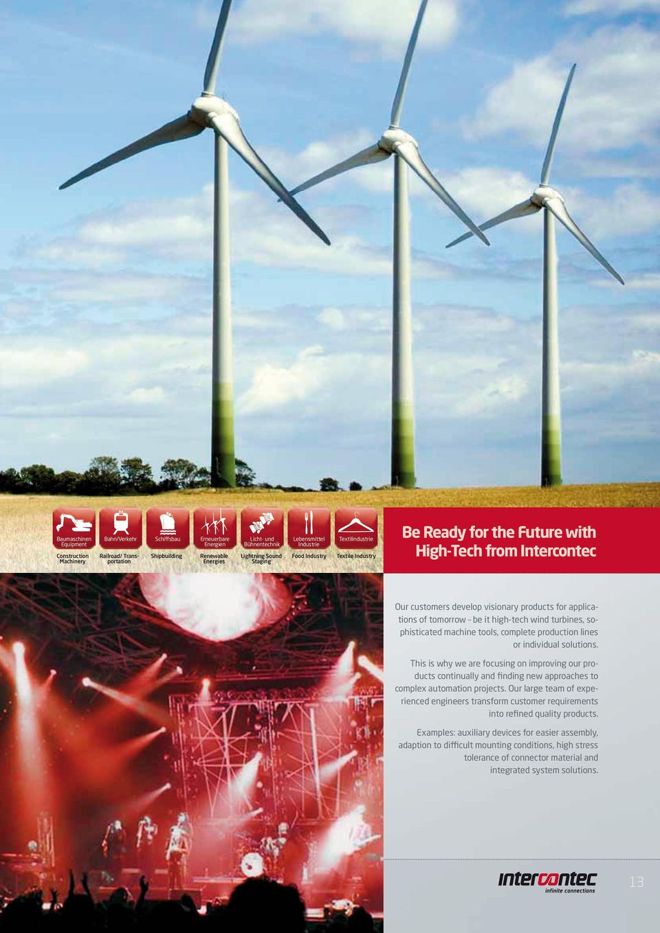 it high-tech wind turbines, sophisticated machine tools, complete production lines or individual solutions.