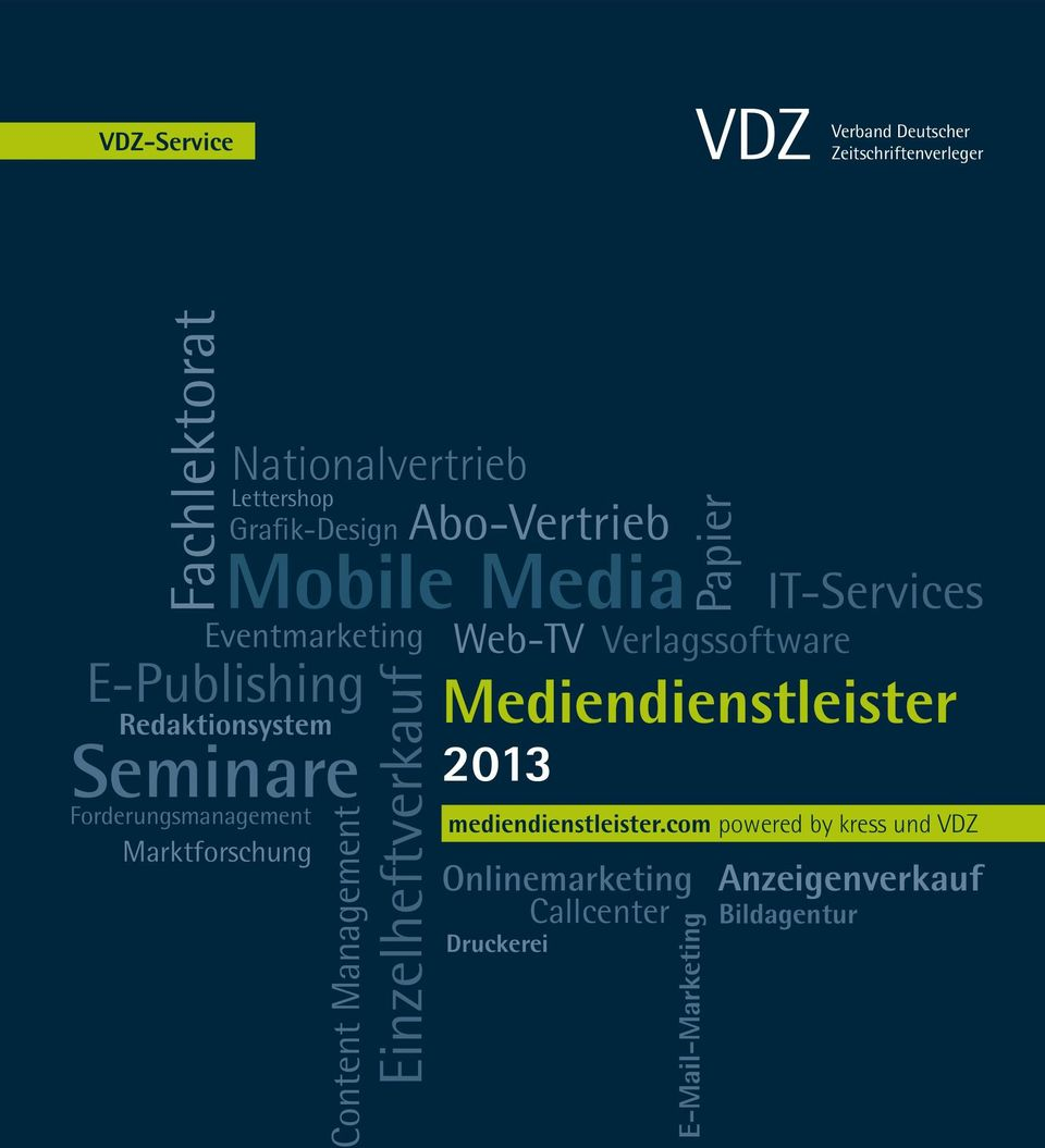 E-Publishing Content Management Einzelheftverkauf Web-TV 2013 Verlagssoftware IT-Services mediendienstleister.